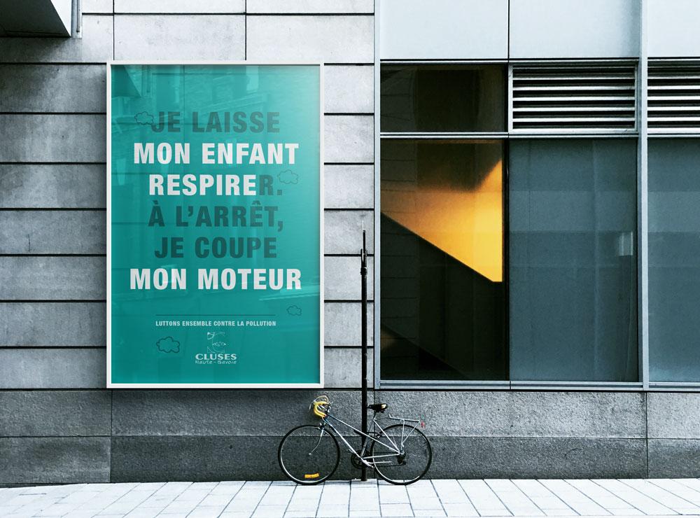 Célia RATTO | Graphiste Freelance à Annecy | Ville de Cluses, graphisme print et communication. Événementiel, prévention et information municipale.