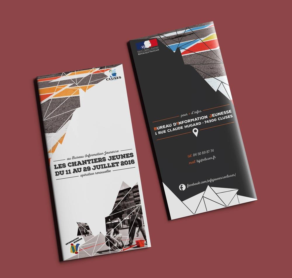 Célia RATTO   Graphiste Freelance à Annecy   Ville de Cluses, graphisme print et communication. Événementiel, prévention et information municipale.