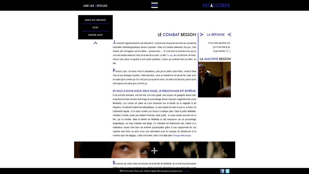 Célia RATTO | Graphiste Freelance à Annecy | Directrice Artistique de la revue cinématographique en ligne Desaccords