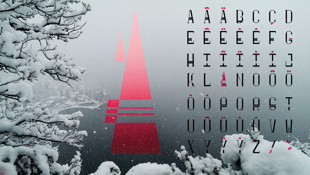 Célia RATTO | Graphiste Freelance à Annecy | Création d'une typographie de titrage à chase fixe | Home - free font | à télécharger gratuitement en format PDF