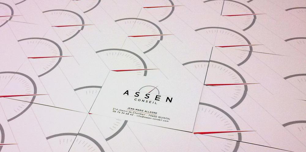 Célia RATTO | Graphiste Freelance à Annecy | Logotype et page HTML pour ASSEN Conseil, conseiller véhicules à moteurs à Quintal.