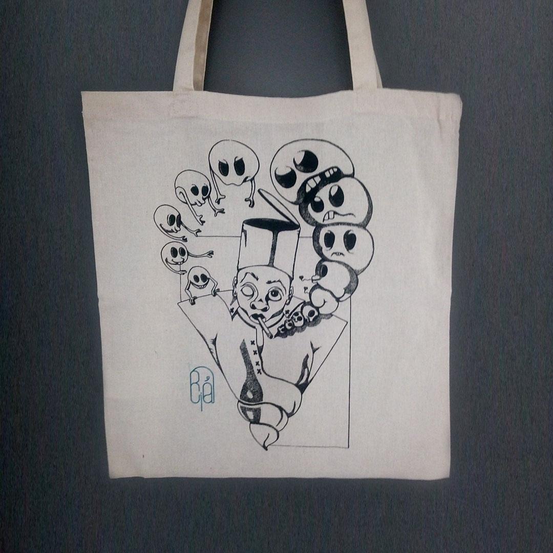 La boutique : Célia RATTO, graphiste multimédia à Annecy. Créations et Sérigraphie textile artisanale - Tote Bag Fez is Cool !