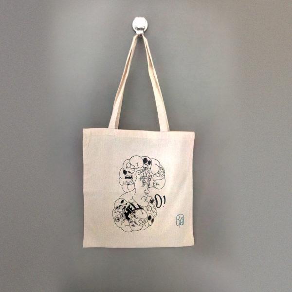La boutique : Célia RATTO, graphiste multimédia à Annecy. Créations et Sérigraphie textile artisanale - Tote Bag Eight