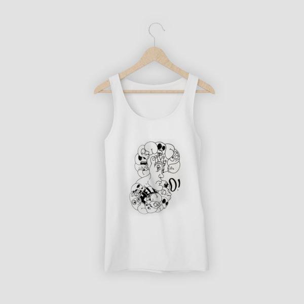 La boutique : Célia RATTO, graphiste multimédia à Annecy. Créations et Sérigraphie textile artisanale - Débardeur Eight