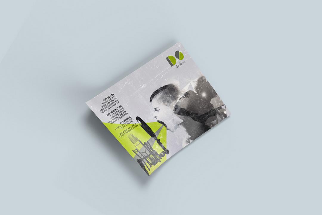 Célia RATTO | Graphiste Freelance à Annecy |Don du Son - Dijon. Design Graphique print et web, création, déclinaisons et community management
