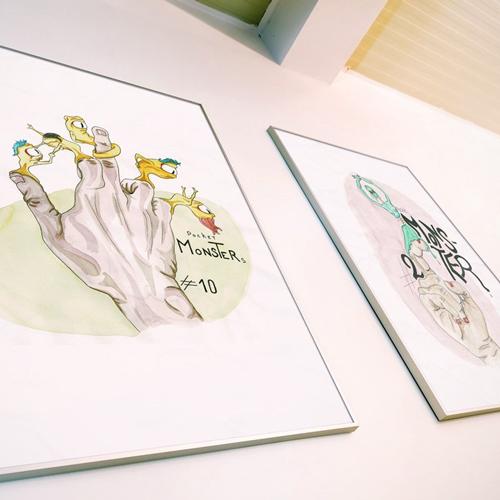 Célia RATTO, Graphiste multimédia à Annecy - Haute-Savoie - Région Rhône Alpes. Design Graphique, Illustration, Web et Vidéo : Pocket Monster, illustration. Série pour sérigraphie sur ToteBag - Boutique - apercu