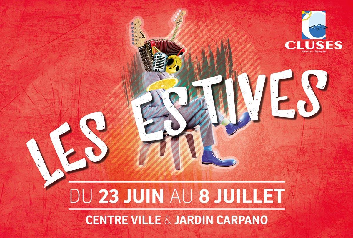 Célia RATTO   Graphiste Freelance à Annecy   Ville de Cluses, animations d'été 2017, Les Estives