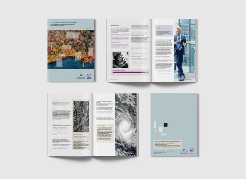 Célia RATTO | Graphiste Freelance à Annecy | Gras Savoye - Willis Towers Watson | Communication Corporate | Communication sur le progrès - Mise en Page