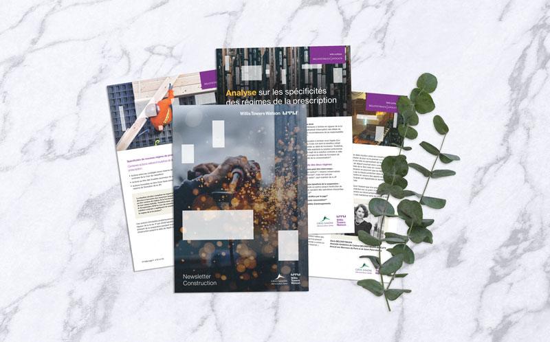 Célia RATTO | Graphiste Freelance à Annecy | Gras Savoye - Willis Towers Watson | Communication Corporate | Étude des Rémunérations 2020 mise en page newsletter