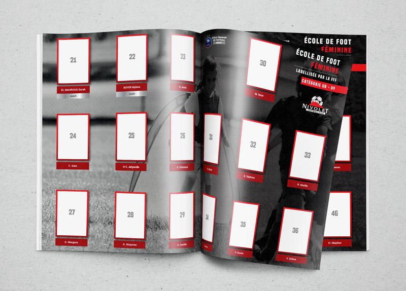 Célia RATTO | Graphiste Freelance à Annecy | Mise en page d'albums type panini pour Triplem en Savoie.