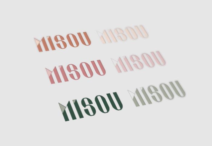 Célia RATTO | Graphiste Freelance à Annecy | Création typographique et création de logo pour Misou, créatrice de vêtements pour femmes à Aix les Bains.