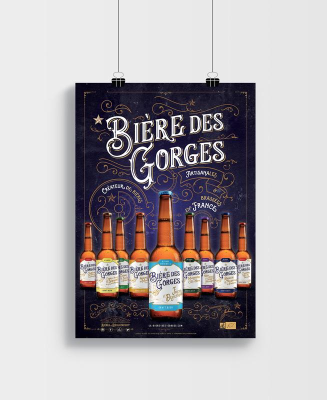 Célia RATTO, Graphiste freelance à Annecy : Bière des Gorges - création de supports print