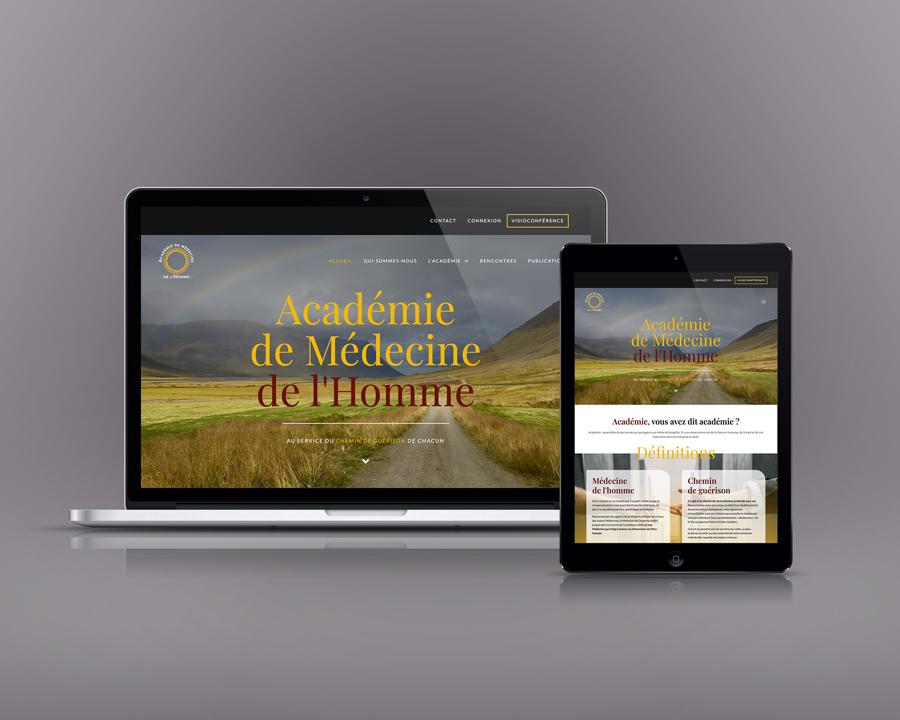Célia RATTO, Graphiste freelance à Annecy : Refonte de l'identité visuelle de l'Académie de Médecine de l'Homme